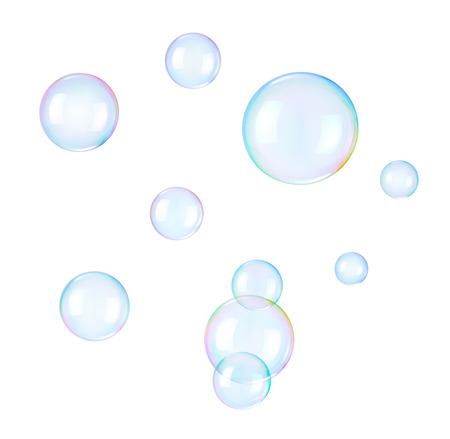 Foto de Soap bubbles on a white  - Imagen libre de derechos