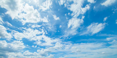Photo for Panorama shot of blue sky and clouds in good weather days - Royalty Free Image