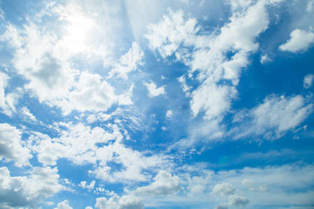 Photo pour Panorama shot of blue sky and clouds in good weather days - image libre de droit
