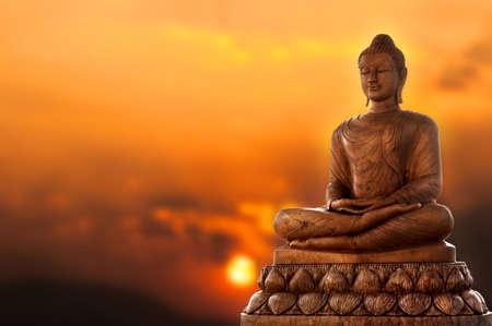 Foto de Buddha and sunset  - Imagen libre de derechos