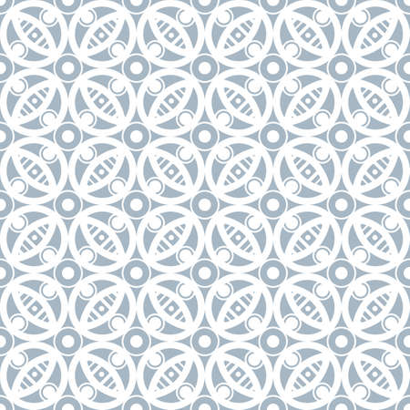 Illustration pour Abstract seamless pattern in vintage style. Interlocking shapes and textures. Pastel colors. - image libre de droit