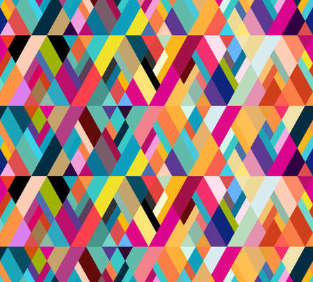 Ilustración de Abstract seamless pattern of geometric shapes. Diagonal movement. - Imagen libre de derechos