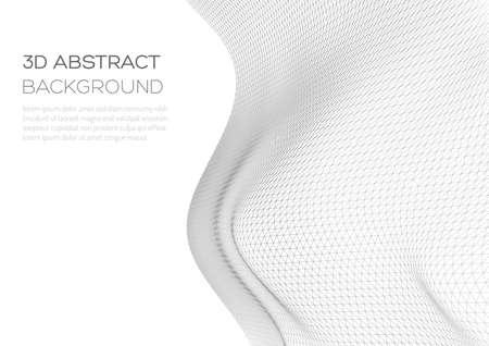 Ilustración de Distorted wave monochrome texture. Abstract dynamical rippled surface. Optical illusion of distortion of matter. - Imagen libre de derechos