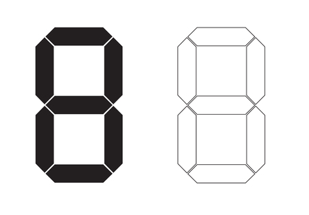 Illustration pour Vector digit number calculator isolated - image libre de droit