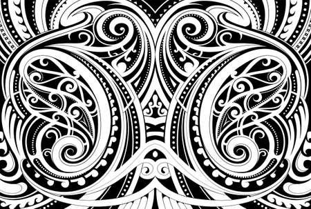 Illustration pour Maori ethnic ornament - image libre de droit