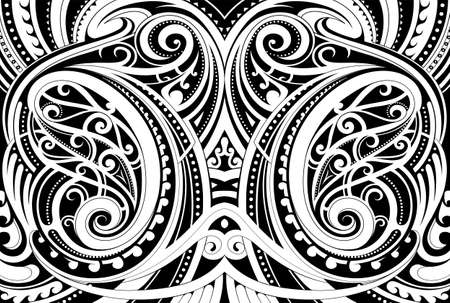 Illustration for Maori ethnic ornament - Royalty Free Image