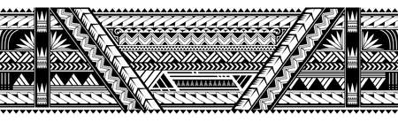 Illustration pour Maori style tattoo ornament. Good for sleeve pattern - image libre de droit