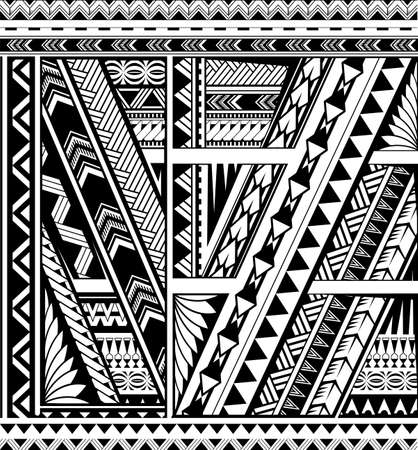 Illustration pour Polynesian style ornamental band for sleeve tattoo - image libre de droit