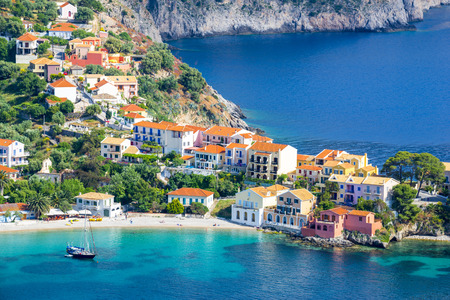 Photo for Assos village, Kefalonia island, Greece - Royalty Free Image