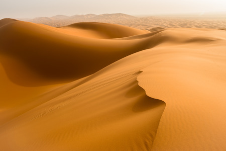 Photo for Sand dunes in the Sahara Desert, Merzouga, Morocco - Royalty Free Image