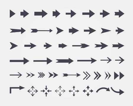 Illustration pour set of different arrows isolated on white background - image libre de droit