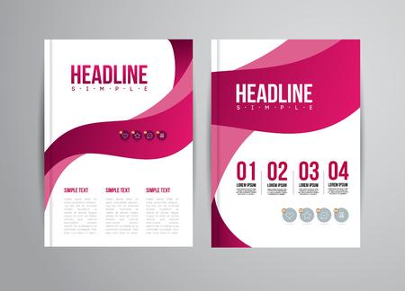 Illustration pour Vector flyer design template with trend illustration. For business presentation, brochure. - image libre de droit