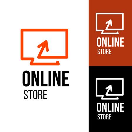 Ilustración de Online shop vector logo. For business. - Imagen libre de derechos