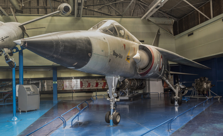 Photo for Le Bourget, Paris, France- May 04,2017: Dassault Mirage G(1971)- Combat aircraft with a variable sweep wing in the Museum of Astronautics and Aviation Le Bourget - Royalty Free Image