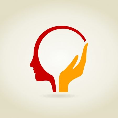 Illustration pour Hand in a head. A vector illustration - image libre de droit