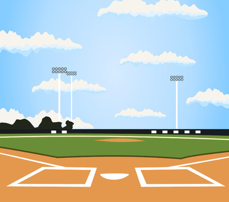 Illustration pour Field for baseball. A vector illustration - image libre de droit