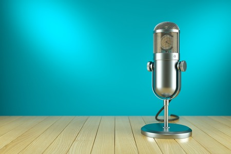 Photo for Studio microphone stand. On the AIR radio concept 3d - Royalty Free Image