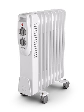 Foto de Electric oil filled heater. 3d render - Imagen libre de derechos