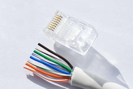 Foto de Twisted Cable Twisted Pair Ethernet UTP Cat 5 - Imagen libre de derechos