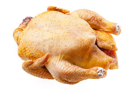 Photo pour Raw turkey isolated Fresh chicken carcass. fowl on white background - image libre de droit