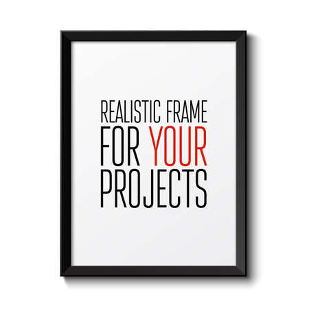 Illustration for Realistic frame  Perfect for your presentations  Vector illustration - Royalty Free Image