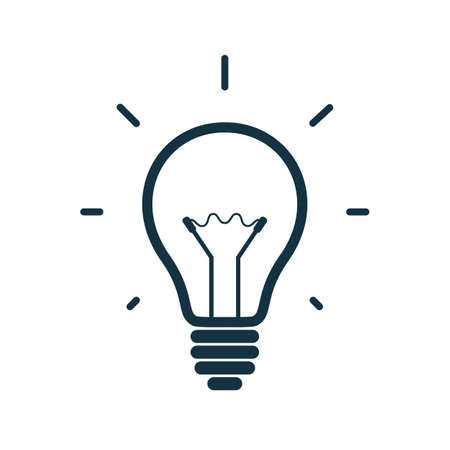 Illustration pour Simple light bulb icon isolated on white background. Vector illustration - image libre de droit