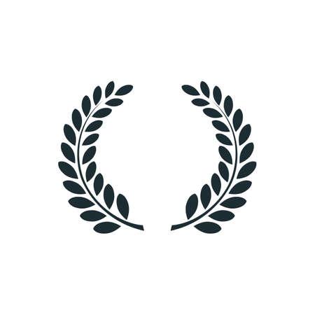 Illustration for Laurel wreath , simple concept logo. Vector illustration - Royalty Free Image