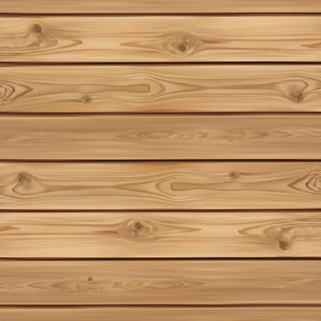Illustration for Realistic wooden background. Wood planks. Vector illustration - Royalty Free Image