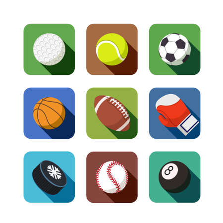 sports icons. set of vector illustration