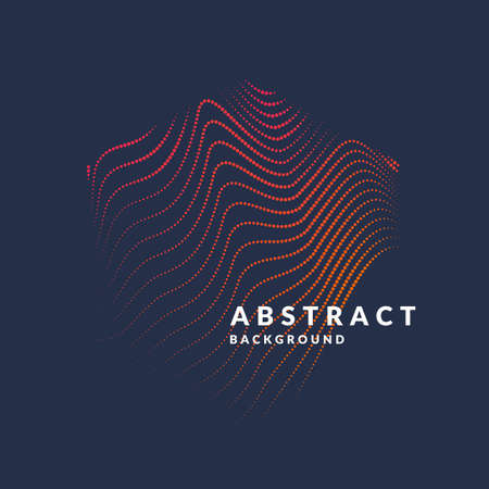 Ilustración de Vector abstract background with a colored dynamic waves, line and particles. Illustration suitable for design - Imagen libre de derechos