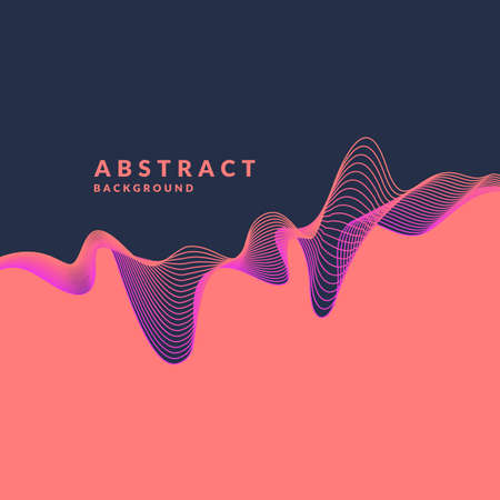 Photo pour Abstract geometric background with dynamic waves. Vector illustration template for design. - image libre de droit