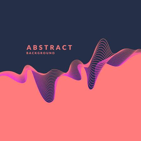 Ilustración de Abstract geometric background with dynamic waves. Vector illustration template for design. - Imagen libre de derechos