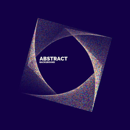 Ilustración de Vector abstract background with a colored dynamic lines, and particles. Illustration suitable for design - Imagen libre de derechos