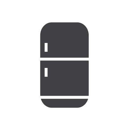 Ilustración de Refrigerator icon, filled flat sign, solid glyph pictogram, Fridge vector illustration - Imagen libre de derechos