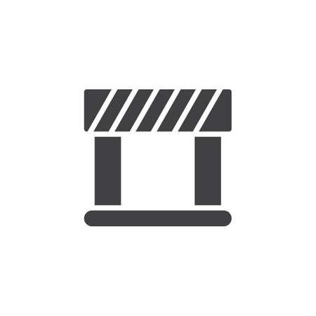 Ilustración de Barrier vector icon. filled flat sign for mobile concept and web design. Security, hurdle simple solid icon. Symbol, illustration. Pixel perfect vector graphics - Imagen libre de derechos