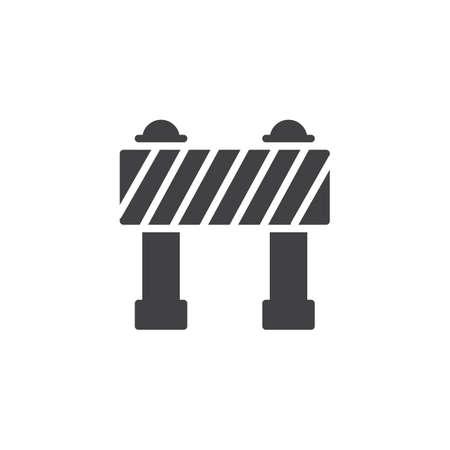 Ilustración de Barrier vector icon. filled flat sign for mobile concept and web design. Security, hurdle simple solid icon. Symbol, logo illustration. Pixel perfect vector graphics - Imagen libre de derechos