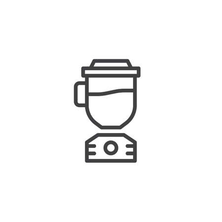 Illustration pour Blender line icon. Electric mixer linear style sign for mobile concept and web design. Juicer outline vector icon. Symbol, logo illustration. Pixel perfect vector graphics - image libre de droit
