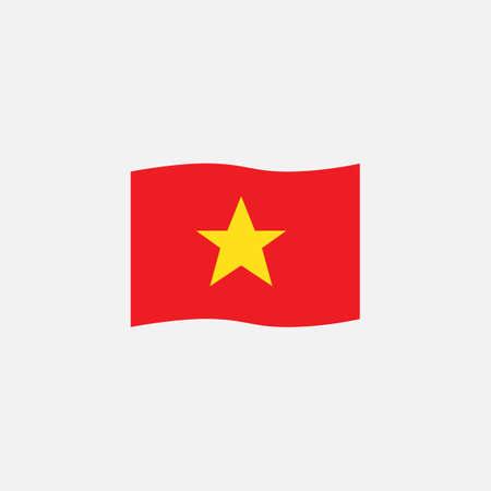 Illustration pour Vietnam flag colors flat icon, vector sign, Vietnam waving flag colorful pictogram isolated on white. Symbol,  illustration. Flat style design - image libre de droit