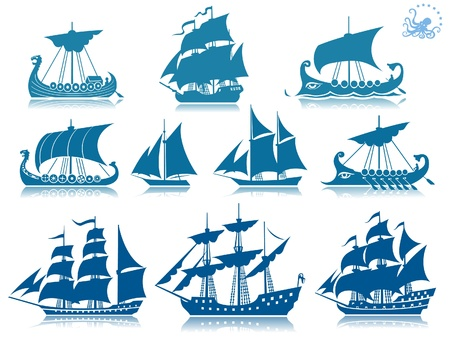 Ships of the past iconset