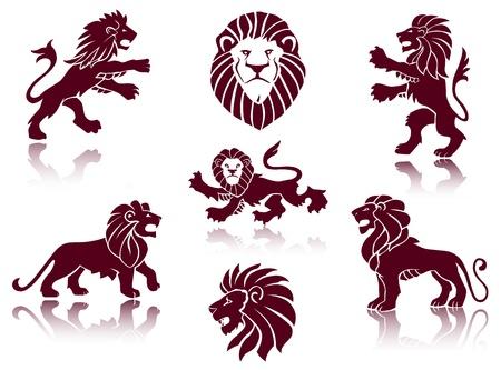 Lions Silhouettes set