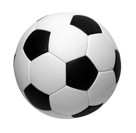 Photo pour soccer ball isolated on white - image libre de droit