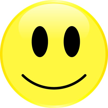 Illustration pour Smiley face with a positive emotion. Vector. - image libre de droit