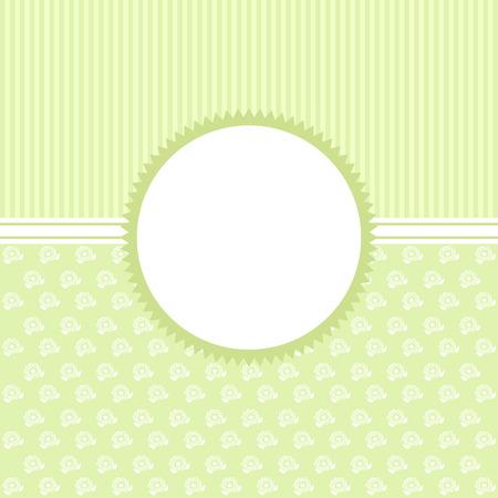 Ilustración de Invitation card in an vintage-style green. Vector card. - Imagen libre de derechos