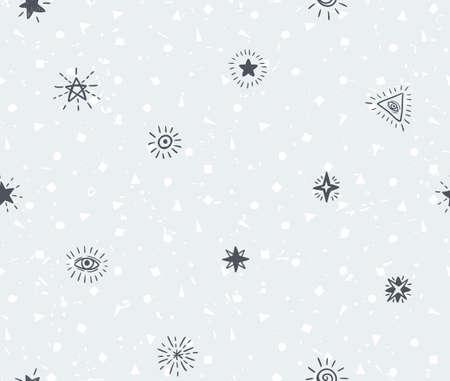 Ilustración de Set of geometric simple textured universal backgrounds with stars. Vector illustration for your unique design. - Imagen libre de derechos
