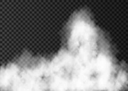 Ilustración de White fire smoke isolated on transparent background. - Imagen libre de derechos