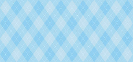 Ilustración de Argyle vector pattern. Light blue with thin white dotted line. Seamless geometric background, textile, men's clothing, wrapping paper. Backdrop for Little Man (baby boy) party invite card - Imagen libre de derechos