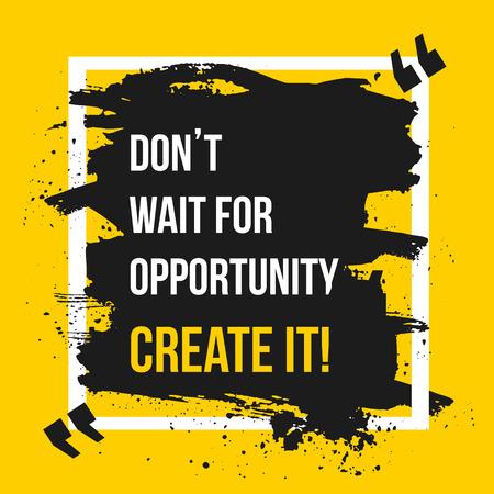 Ilustración de Success comes to those who are too busy to be looking for it . Motivation Business Quote  Design Concept. EPS10 - Imagen libre de derechos