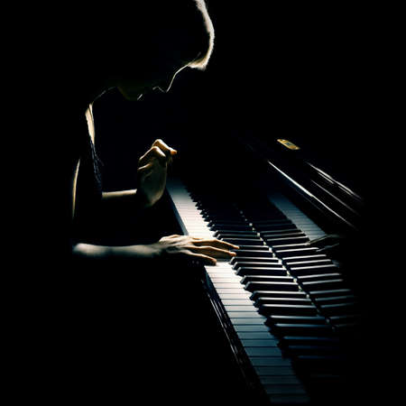 Piano pianist Classical music playing with grand piano