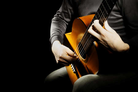 Photo for Acoustic guitar classical guitarist player - Royalty Free Image