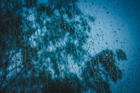 Photo for Drops of water on the glass. Drops on the window. Water drop background. - Royalty Free Image